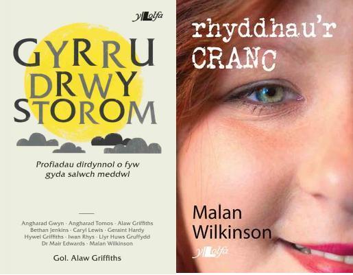 Cloriau dau lyfr - Gyrru Drwy Storom a Rhyddhau Cranc