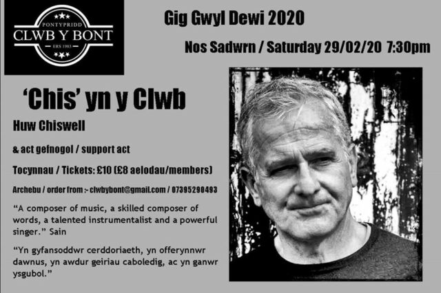Huw Chiswell, poster gig